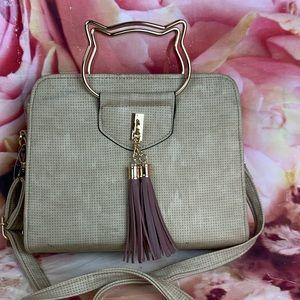 💛 super cute Suede Kittified Handbag 💛